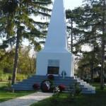 A felújított emlékmű